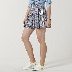 SO Floral Print Black Skirt NWOT by Kohls